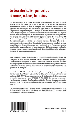 4eme La décentralisation portuaire : réformes, acteurs, territoires