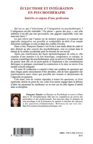 4eme Eclectisme et intégration en psychothérapie