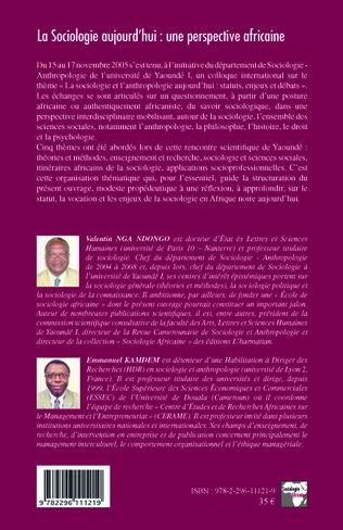 4eme La Sociologie aujourd'hui: une perspective africaine