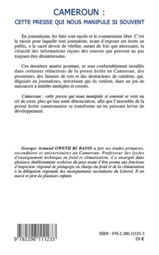 4eme Cameroun : cette presse qui nous manipule si souvent