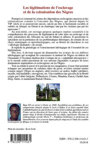 4eme Les légitimations de l'esclavage et de la colonisation des Nègres