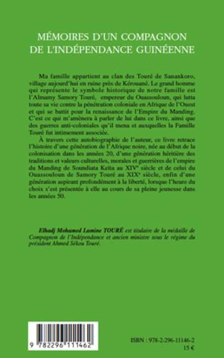 4eme Mémoires d'un compagnon de l'indépendance guinéenne