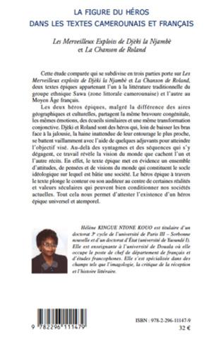4eme La figure du héros dans les textes camerounais et français. les Merveilleux Exploits de Djèki la Njambè et la Chanson de Roland