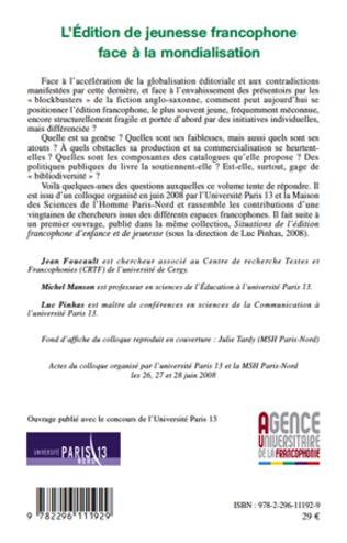 4eme L'Edition de jeunesse francophone face à la mondialisation