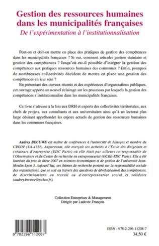 4eme Gestion des ressources humaines dans les municipalités françaises