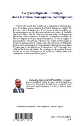 4eme La symbolique de l'immigré dans le roman francophone contemporain
