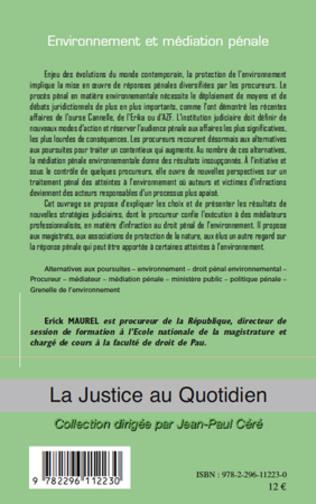 4eme Environnement et médiation pénale