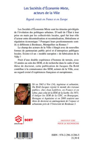 4eme Les Sociétés d'Economie Mixte, acteurs de la Ville