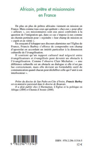 4eme Africain, prêtre et missionnaire en France