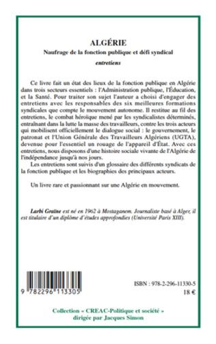 4eme Algérie naufrage de la fonction publique et défi syndical