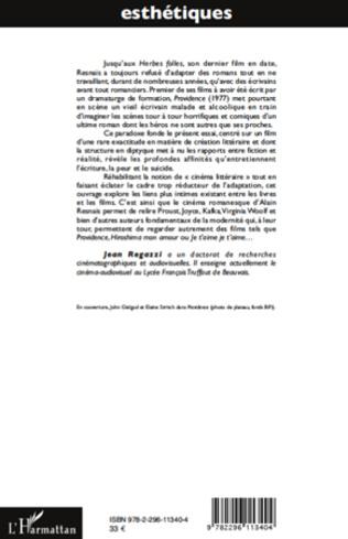 4eme Le roman dans le cinéma d'Alain Resnais