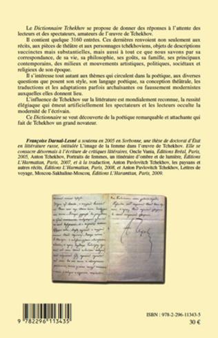 4eme Le dictionnaire Tchekhov