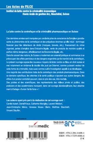 4eme La lutte contre la contrefaçon et la criminalité pharmaceutique en Suisse