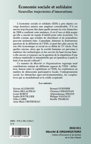 4eme L'ECONOMIE SOCIALE ET SOLIDAIRE A L'HEURE DE L'ENTREPRENEURIAT SOCIAL