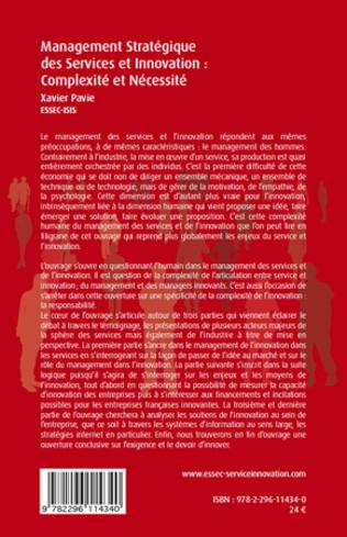 4eme Management stratégique des services et innovation : complexité et nécessité