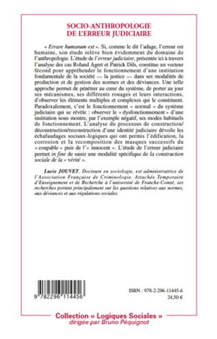 4eme Socio-anthropologie de l'erreur judiciaire