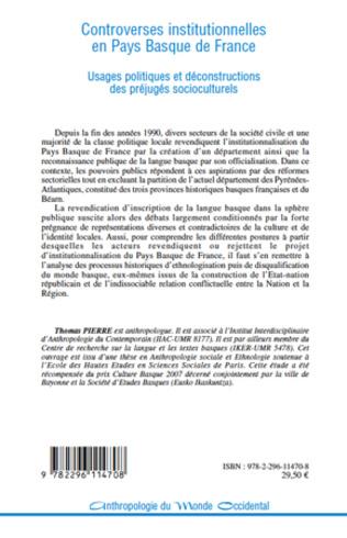 4eme Controverses institutionnelles en Pays Basque de France