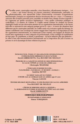 4eme Crises et organisations internationales