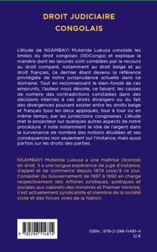 4eme Droit judiciaire congolais