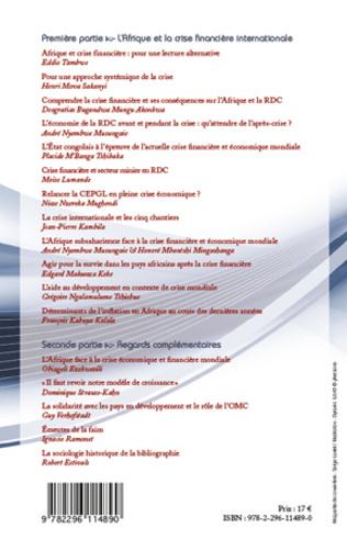 4eme L'Afrique et la crise financière internationale