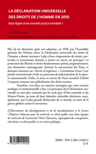 4eme La Déclaration universelle des droits de l'homme