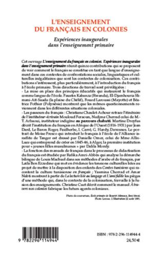 4eme L'enseignement du français en colonies