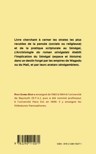 4eme ARCHEOLOGIE DU ROMAN SENEGALAIS