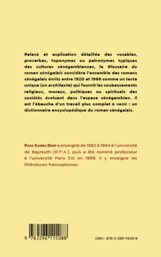 4eme GLOSSAIRE DU ROMAN SENEGALAIS