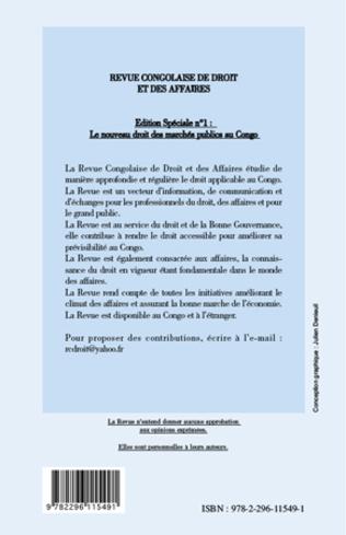 4eme Le nouveau droit des marchés publics au Congo
