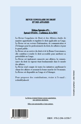 4eme L'adhésion de la République démocratique du Congo (RDC) à l'OHADA