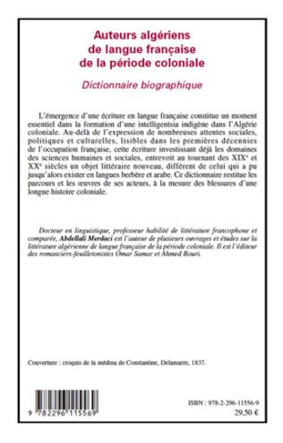 4eme Auteurs algériens de langue française de la période coloniale