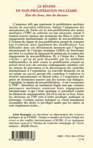 4eme Le régime de non-prolifération nucléaire