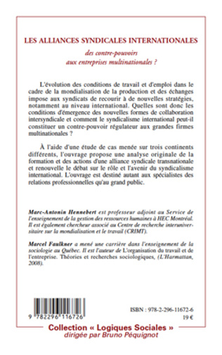 4eme Les alliances syndicales internationales