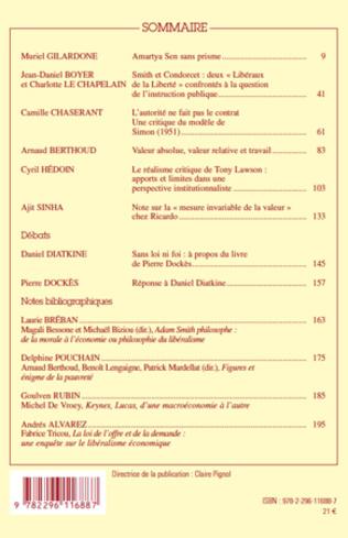 4eme Cahiers d'économie politique N°58