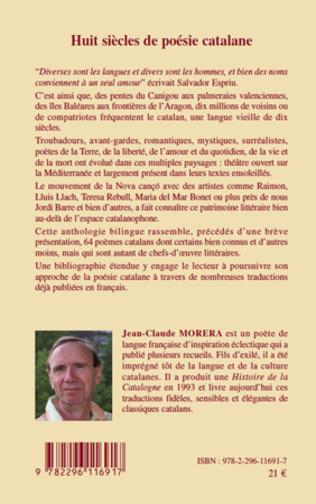 Huit Siècles De Poésie Catalane Anthologie Jean Claude
