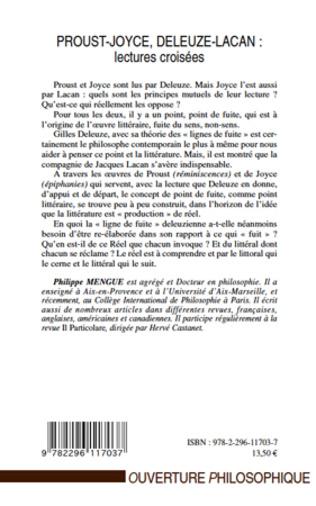 4eme Proust-Joyce, Deleuze-Lacan : lectures croisées