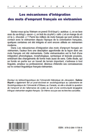 4eme Les mécanismes d'intégration des mots d'emprunt français en vietnamien