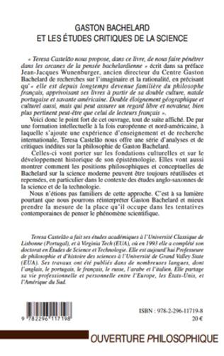 4eme Gaston Bachelard et les études critiques de la science