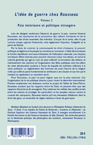 4eme L'idée de guerre chez Rousseau (Volume 2)