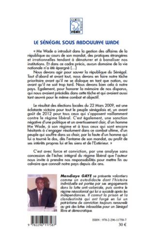 4eme Le Sénégal sous Abdoulaye Wade