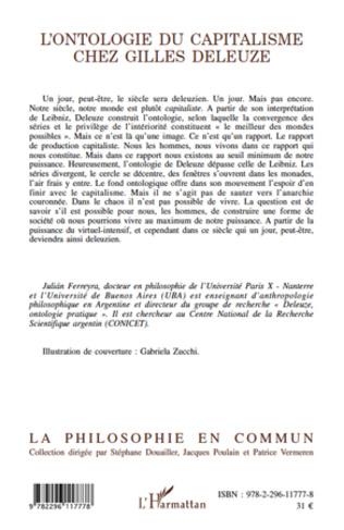 4eme L'ontologie du capitalisme chez Gilles Deleuze