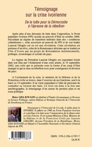 4eme Témoignage sur la crise ivoirienne