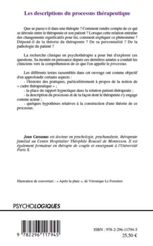4eme Les descriptions du processus thérapeutique