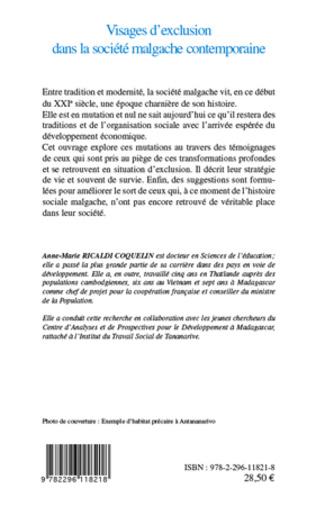 4eme Visages d'exclusion dans la société malgache contemporaine