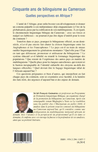 4eme Cinquante ans de bilinguisme au Cameroun