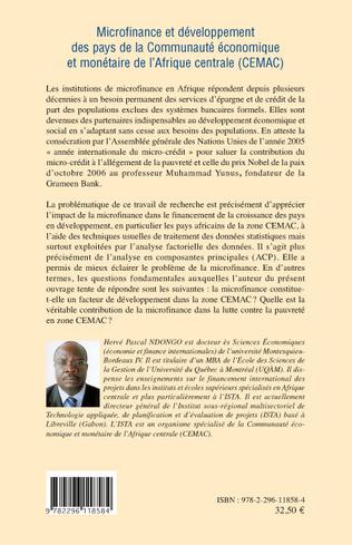 4eme Microfinance et développement des pays de la Communauté économique et monétaire de l'Afrique centrale (CEMAC)