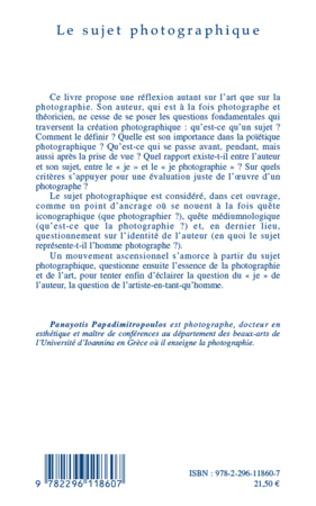 4eme Le sujet photographique