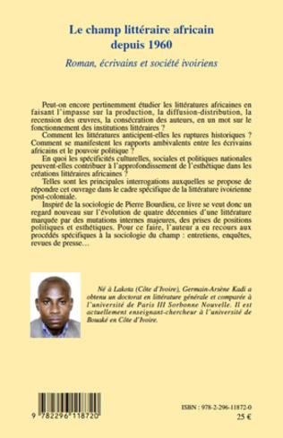4eme Le champ littéraire africain depuis 1960