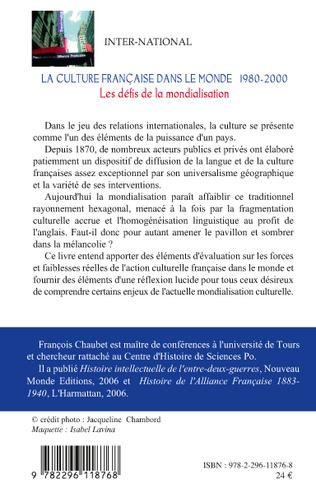 4eme La culture française dans le monde 1980-2000
