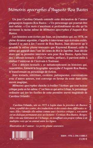 4eme Mémoires apocryphes d'Augusto Roa Bastos